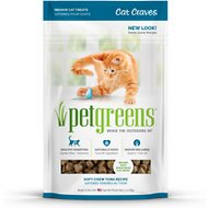 Pet Greens Cat Craves Deep Sea Tuna Semi-Moist Cat Treats, 3-oz bag