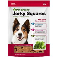 Pet Greens Savory Beef Recipe Jerky Squares Grain-Free Dog Treats, 4-oz bag