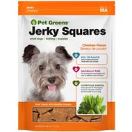 Pet Greens Roasted Chicken Recipe Jerky Squares Grain-Free Dog Treats, 4-oz bag