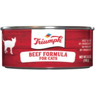 Triumph Beef Formula Canned Cat Food, 5.5-oz, case of 24