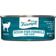Triumph Ocean Fish Formula Canned Cat Food, 5.5-oz, case of 24