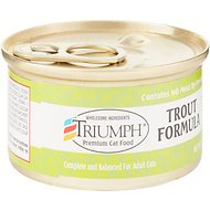 Triumph Trout Formula Canned Cat Food, 3-oz, case of 24