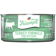 Triumph Turkey Formula for Kittens Canned Cat Food, 3-oz, case of 24