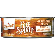 Triumph Grain-Free Turkey & Giblets Dinner Canned Cat Food, 5.5-oz, case of 24