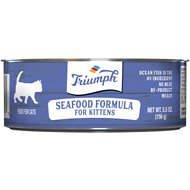 Triumph Seafood Formula for Kittens Canned Cat Food, 5.5-oz, case of 24