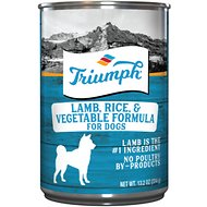 Triumph Lamb, Rice 'N Vegetable Formula Canned Dog Food, 13.2-oz, case of 12