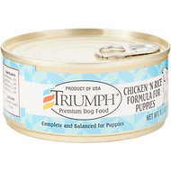 Triumph Chicken 'N Rice Formula for Puppies Canned Dog Food, 5.5-oz, case of 24