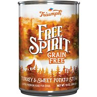 Triumph Free Spirit Grain-Free Turkey & Sweet Potato Stew Canned Dog Food, 13.2-oz, case of 12