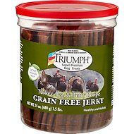 Triumph Grain-Free Turkey, Pea & Berry Recipe Jerky Dog Treats, 24-oz Jar
