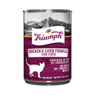 Triumph Chicken 'N Liver Formula Canned Cat Food, 13.2-oz, case of 12