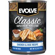 Evolve Chicken Formula Canned Dog Food, 13.2-oz, case of 12