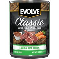 Evolve Classic Lamb & Rice Recipe Canned Dog Food