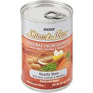 Evolve Nature's Menu Hearty Stew with Beef, Carrots & Potatoes Canned Dog Food, 13.2-oz, case of 12
