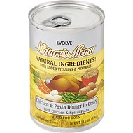 Evolve Nature's Menu Chicken & Pasta Dinner in Gravy Canned Dog Food, 13.2-oz, case of 12