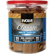Evolve Classic Chicken, Rice & Cranberry Recipe Dog Treats, 22-oz jar