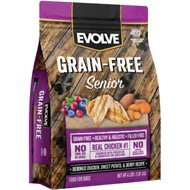 Evolve Grain-Free Deboned Chicken, Sweet Potato & Chickpea Senior Formula Dry Dog Food, 4-lb bag