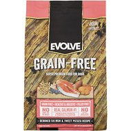 Evolve Grain-Free Deboned Salmon & Sweet Potato Recipe Dry Dog Food, 12-lb bag