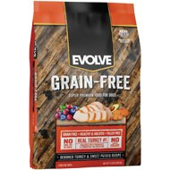 Evolve Grain-Free Turkey, Garbanzo Bean & Pea Recipe Dry Dog Food, 14-lb bag