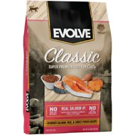 Evolve Salmon, Brown Rice & Barley Formula Dry Cat Food, 14-lb bag