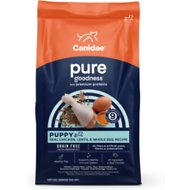 CANIDAE Grain-Free PURE Puppy Real Chicken, Lentil & Whole Egg Recipe Dry Dog Food, 4-lb bag