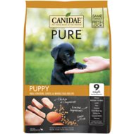 CANIDAE Grain-Free PURE Puppy Limited Ingredient Chicken, Lentil & Whole Egg Recipe Dry Dog Food