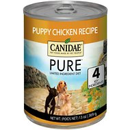 CANIDAE Grain-Free PURE Foundations Puppy Formula with Chicken Canned Dog Food, 13-oz, case of 12