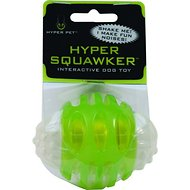 Hyper Pet Hyper Squawkers Dog Chew Toy, Ball