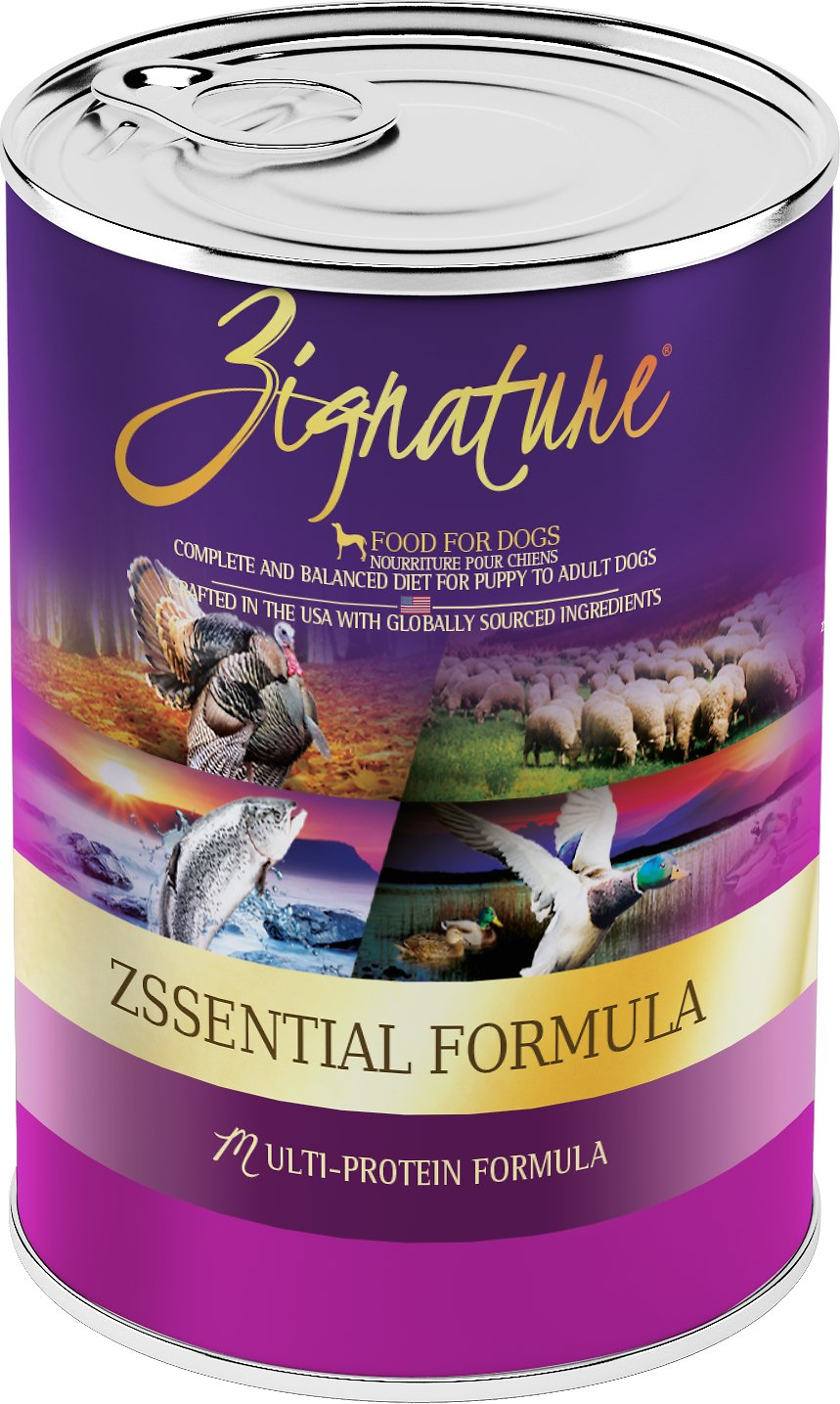 Best Canned Dog Food >> Zignature Zssential Multi Protein Formula Grain Free Canned Dog Food 13 Oz Case Of 12