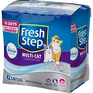 Fresh Step Multi-Cat Scoopable Clumping Cat Litter, 42-lb bag