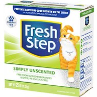 Fresh Step Simply Unscented Cat Litter, 25-lb Box