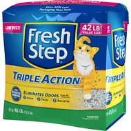 Fresh Step Triple Action Scented Clumping Cat Litter, 42-lb bag