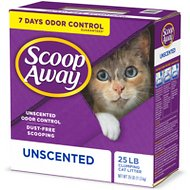 Scoop Away Super Clump Unscented Cat Litter, 25-lb box