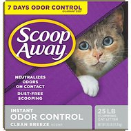 Scoop Away Clean Breeze Scent Extra Strength Clumping Cat Litter, 25-lb Box