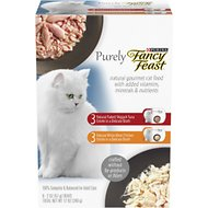 Fancy Feast Purely Variety Pack Wet Cat Food, 2-oz tray, case of 6