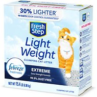 Fresh Step Lightweight Febreze Scented Clumping Clay Cat Litter, 15.4-lb box