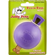 Jolly Pets Tug-n-Toss M-ini Dog Toy, Purple, 3-in