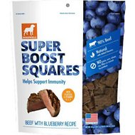 Dogswell Super Boost Squares Beef with Blueberry Recipe Dog Treats, 5-oz bag
