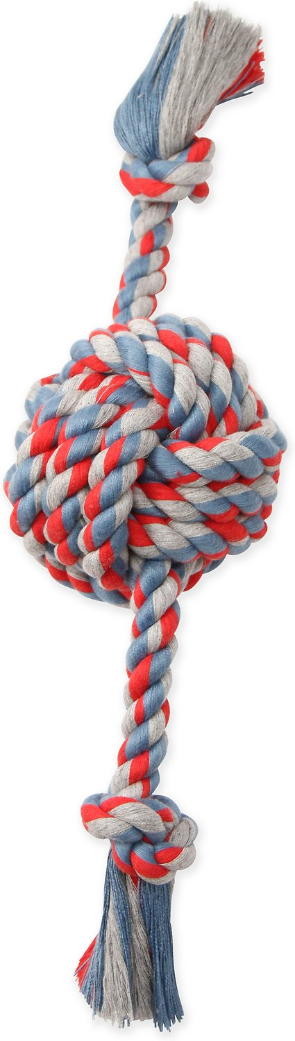 Mammoth Flossy Chews Color Monkey Fist Ball with Rope Ends