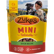 Zuke's Mini Naturals Duck Recipe Dog Treats, 1-lb bag
