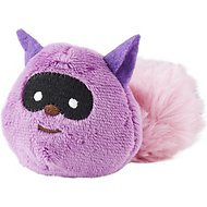 JW Pet Cataction Plush Raccoon with Catnip Cat Toy, Purple