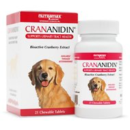 Nutramax Crananidin Chewable Tablets Dog Supplement, 21 count