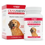Nutramax Crananidin Chewable Tablets Dog Supplement, 75 count