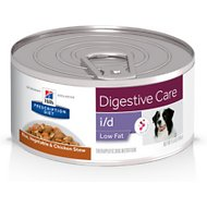 Hill's Prescription Diet i/d Digestive Care Low Fat Rice, Vegetable & Chicken Stew Canned Dog Food, 5.5-oz, case of 24