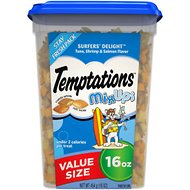 Temptations Mixups Surfers' Delight Cat Treats, 16-oz tub