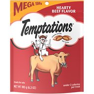 Temptations Hearty Beef Flavor Cat Treats, 6.3-oz bag