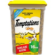 Temptations Tasty Chicken Flavor Cat Treats, 16-oz tub