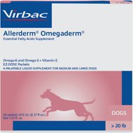 Virbac Allerderm Omegaderm EZ-Dose Packets for Medium & Large Dogs, 28 count