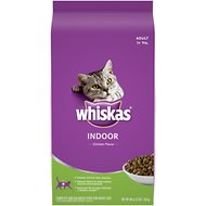Whiskas Indoor Cat Chicken Flavor Dry Cat Food, 3-lb bag