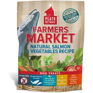 Plato Farmers Market Salmon & Vegetables Grain-Free Dog Treats, 14.1-oz bag