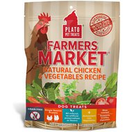 Plato Farmers Market Chicken & Vegetables Grain-Free Dog Treats, 14.1-oz bag
